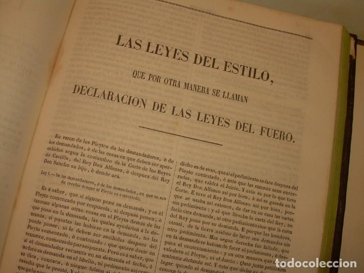 Libros antiguos: LIBRO TAPAS DE PIEL..LOS CODIGOS ESPAÑOLES..AÑO 1847.FUERO DE CASTILLA,ALCALA,FUERO REAL. ETC. - Foto 46 - 142796890