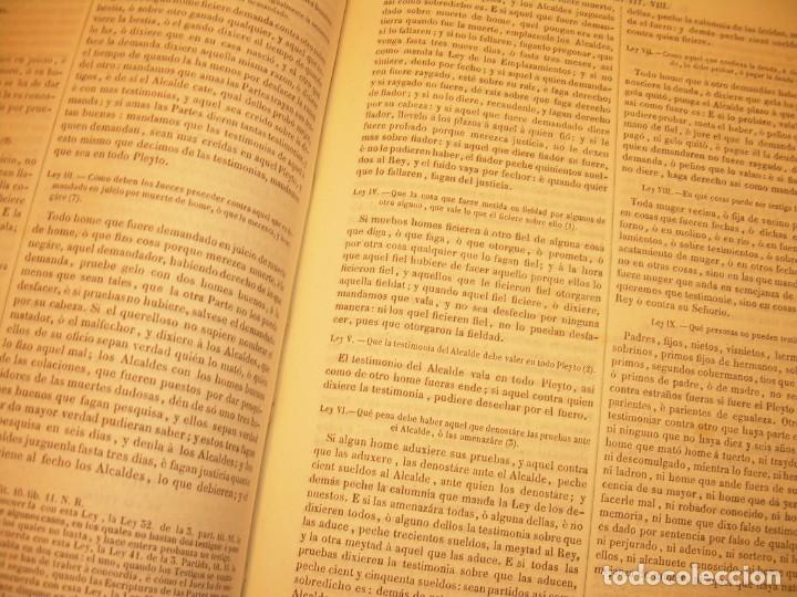 Libros antiguos: LIBRO TAPAS DE PIEL..LOS CODIGOS ESPAÑOLES..AÑO 1847.FUERO DE CASTILLA,ALCALA,FUERO REAL. ETC. - Foto 51 - 142796890