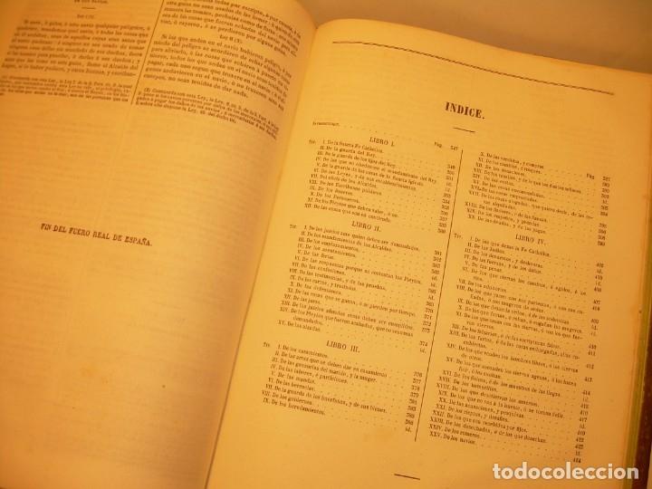 Libros antiguos: LIBRO TAPAS DE PIEL..LOS CODIGOS ESPAÑOLES..AÑO 1847.FUERO DE CASTILLA,ALCALA,FUERO REAL. ETC. - Foto 52 - 142796890
