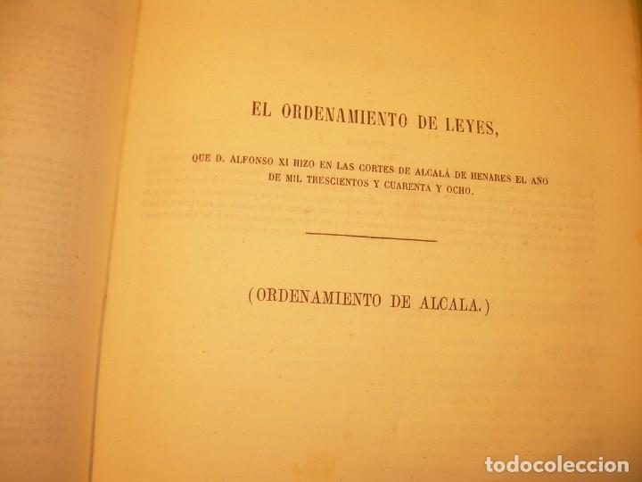 Libros antiguos: LIBRO TAPAS DE PIEL..LOS CODIGOS ESPAÑOLES..AÑO 1847.FUERO DE CASTILLA,ALCALA,FUERO REAL. ETC. - Foto 53 - 142796890