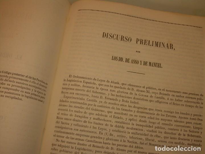 Libros antiguos: LIBRO TAPAS DE PIEL..LOS CODIGOS ESPAÑOLES..AÑO 1847.FUERO DE CASTILLA,ALCALA,FUERO REAL. ETC. - Foto 54 - 142796890