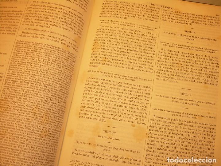 Libros antiguos: LIBRO TAPAS DE PIEL..LOS CODIGOS ESPAÑOLES..AÑO 1847.FUERO DE CASTILLA,ALCALA,FUERO REAL. ETC. - Foto 57 - 142796890