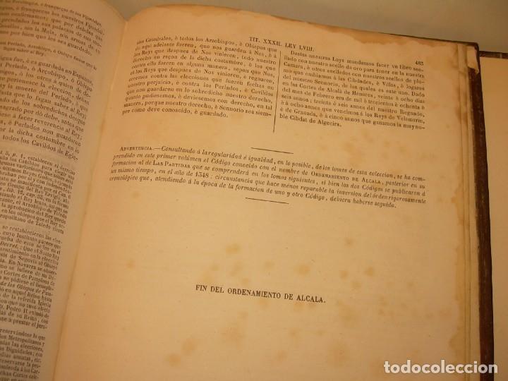 Libros antiguos: LIBRO TAPAS DE PIEL..LOS CODIGOS ESPAÑOLES..AÑO 1847.FUERO DE CASTILLA,ALCALA,FUERO REAL. ETC. - Foto 61 - 142796890