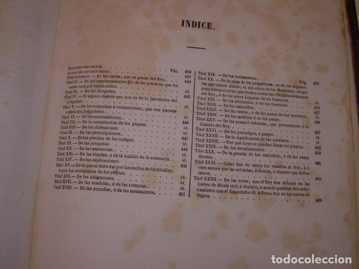 Libros antiguos: LIBRO TAPAS DE PIEL..LOS CODIGOS ESPAÑOLES..AÑO 1847.FUERO DE CASTILLA,ALCALA,FUERO REAL. ETC. - Foto 60 - 142796890