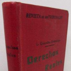 Libros antiguos: REVISTA DE LOS TRIBUNALES IMPUESTOS DE DERECHOS REALES Y SOBRE TRANSMISIONES DE BIENES, GONGORA. Lote 142948458