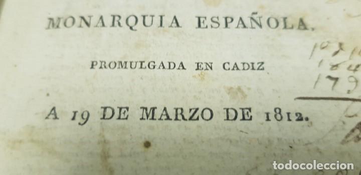Libros antiguos: J10- CONSTITUCION POLITICA DE LA MONARQUIA ESPAÑOLA AÑO 1812 IMPRENTA REAL MUY DIFICIL! - Foto 6 - 143834262