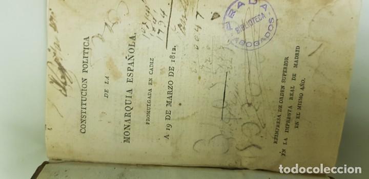 Libros antiguos: J10- CONSTITUCION POLITICA DE LA MONARQUIA ESPAÑOLA AÑO 1812 IMPRENTA REAL MUY DIFICIL! - Foto 7 - 143834262