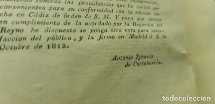 Libros antiguos: J10- CONSTITUCION POLITICA DE LA MONARQUIA ESPAÑOLA AÑO 1812 IMPRENTA REAL MUY DIFICIL! - Foto 8 - 143834262