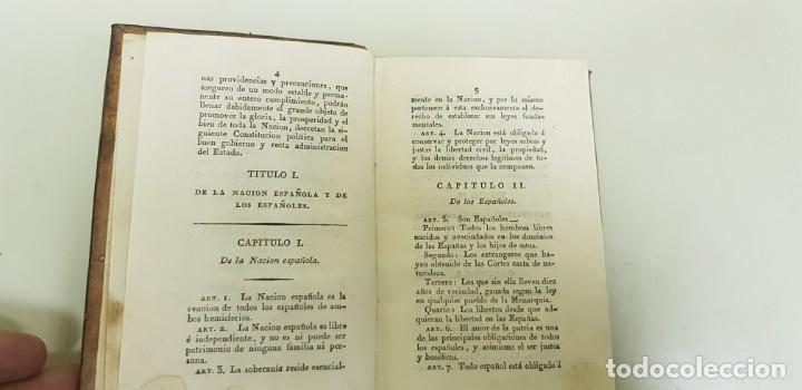 Libros antiguos: J10- CONSTITUCION POLITICA DE LA MONARQUIA ESPAÑOLA AÑO 1812 IMPRENTA REAL MUY DIFICIL! - Foto 9 - 143834262