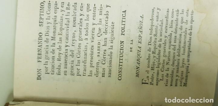 Libros antiguos: J10- CONSTITUCION POLITICA DE LA MONARQUIA ESPAÑOLA AÑO 1812 IMPRENTA REAL MUY DIFICIL! - Foto 14 - 143834262