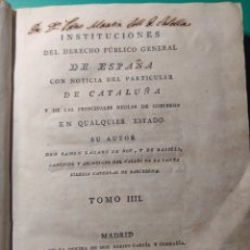 Libros antiguos: LIBRO DE 1801 DE RAMÓN LÁZARO DE DOU. Lote 144293068