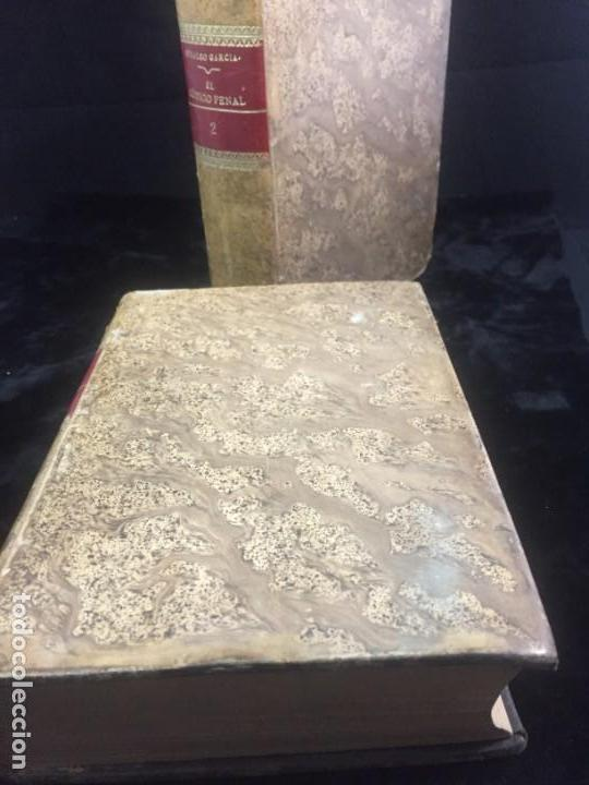 Libros antiguos: El código Penal 1908 dos tomos Juan Antonio Hidalgo García plena piel muy buen estado - Foto 2 - 144395034
