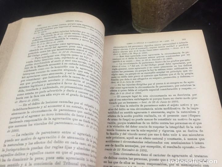 Libros antiguos: El código Penal 1908 dos tomos Juan Antonio Hidalgo García plena piel muy buen estado - Foto 4 - 144395034