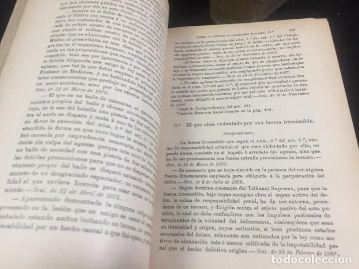 Libros antiguos: El código Penal 1908 dos tomos Juan Antonio Hidalgo García plena piel muy buen estado - Foto 5 - 144395034