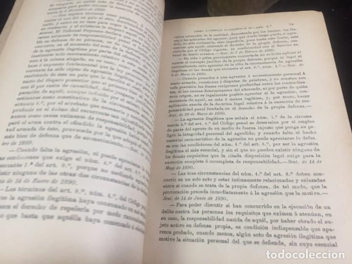 Libros antiguos: El código Penal 1908 dos tomos Juan Antonio Hidalgo García plena piel muy buen estado - Foto 6 - 144395034