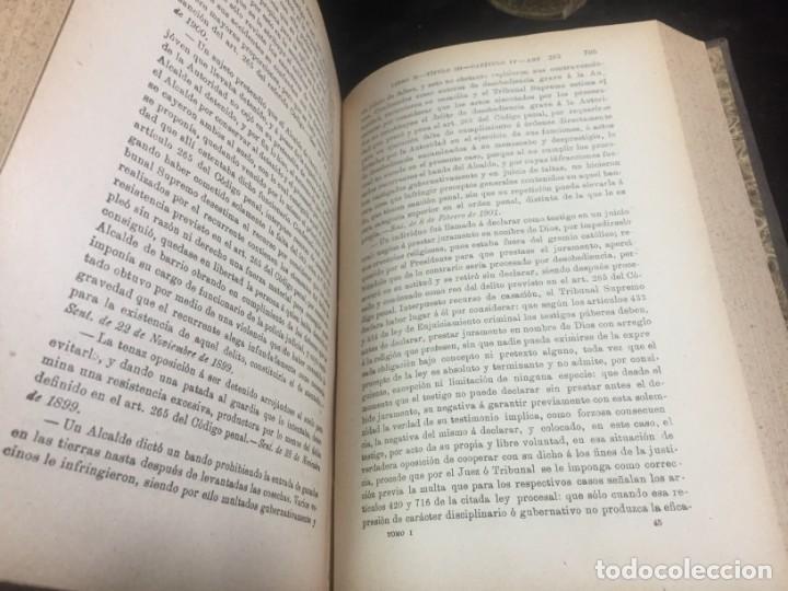 Libros antiguos: El código Penal 1908 dos tomos Juan Antonio Hidalgo García plena piel muy buen estado - Foto 8 - 144395034