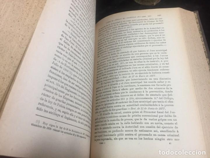 Libros antiguos: El código Penal 1908 dos tomos Juan Antonio Hidalgo García plena piel muy buen estado - Foto 9 - 144395034