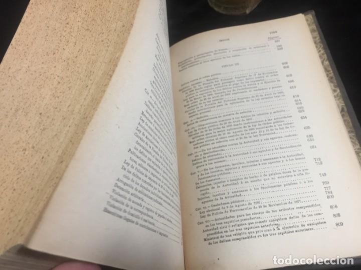 Libros antiguos: El código Penal 1908 dos tomos Juan Antonio Hidalgo García plena piel muy buen estado - Foto 11 - 144395034