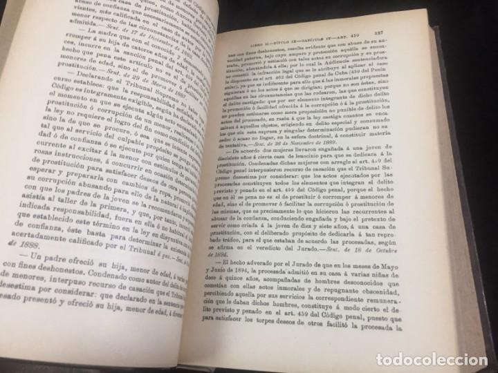 Libros antiguos: El código Penal 1908 dos tomos Juan Antonio Hidalgo García plena piel muy buen estado - Foto 14 - 144395034