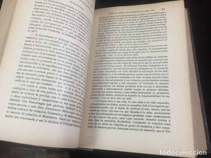 Libros antiguos: El código Penal 1908 dos tomos Juan Antonio Hidalgo García plena piel muy buen estado - Foto 15 - 144395034