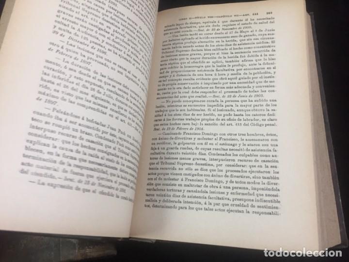 Libros antiguos: El código Penal 1908 dos tomos Juan Antonio Hidalgo García plena piel muy buen estado - Foto 17 - 144395034