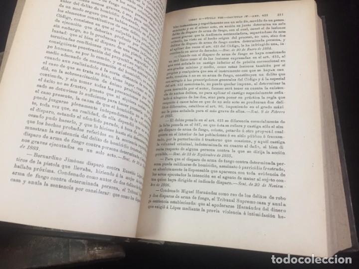 Libros antiguos: El código Penal 1908 dos tomos Juan Antonio Hidalgo García plena piel muy buen estado - Foto 18 - 144395034