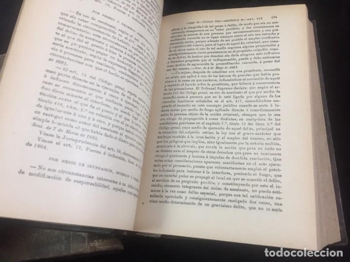 Libros antiguos: El código Penal 1908 dos tomos Juan Antonio Hidalgo García plena piel muy buen estado - Foto 19 - 144395034