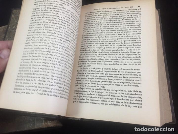 Libros antiguos: El código Penal 1908 dos tomos Juan Antonio Hidalgo García plena piel muy buen estado - Foto 20 - 144395034