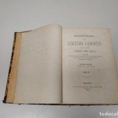 Libros antiguos: J10- LIBRO INSTITUCIONES DE DERECHO CANONICO FRANCISCO GOMEZ SALAZAR TOMO III 1983. Lote 144477446