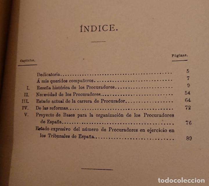 Libros antiguos: Historia legal de los procuradores de España.1896 Vicente González Caballero. Medina del Campo - Foto 2 - 144515926