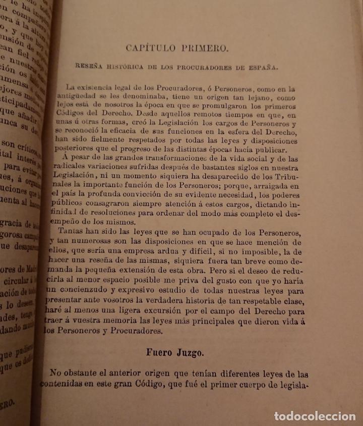 Libros antiguos: Historia legal de los procuradores de España.1896 Vicente González Caballero. Medina del Campo - Foto 4 - 144515926