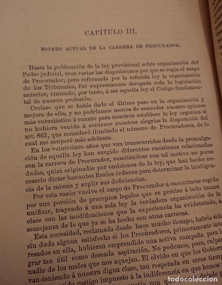 Libros antiguos: Historia legal de los procuradores de España.1896 Vicente González Caballero. Medina del Campo - Foto 5 - 144515926