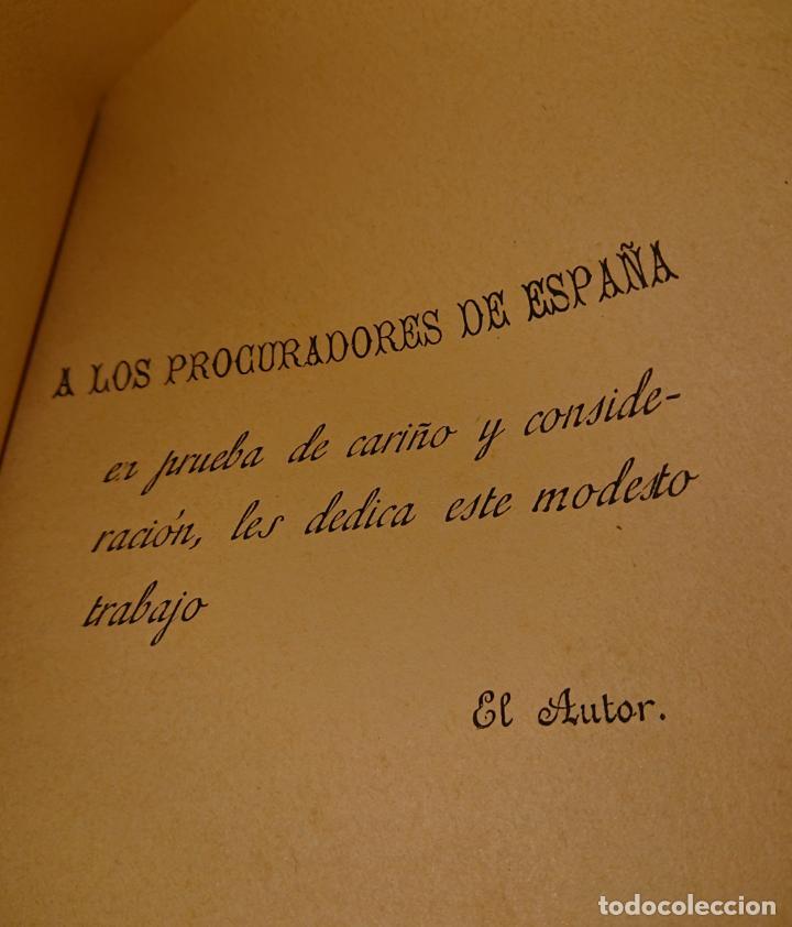Libros antiguos: Historia legal de los procuradores de España.1896 Vicente González Caballero. Medina del Campo - Foto 6 - 144515926
