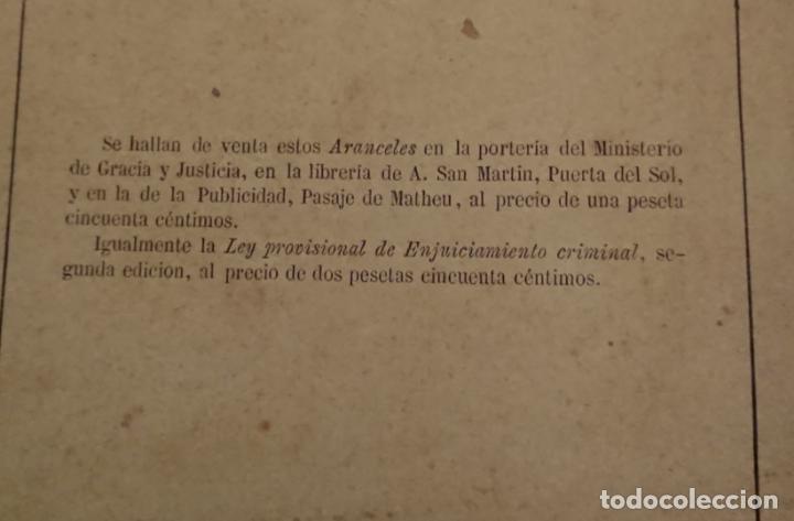 Libros antiguos: El enjuiciamiento criminal 1873 aranceles judiciales, Madrid - Foto 2 - 144517250