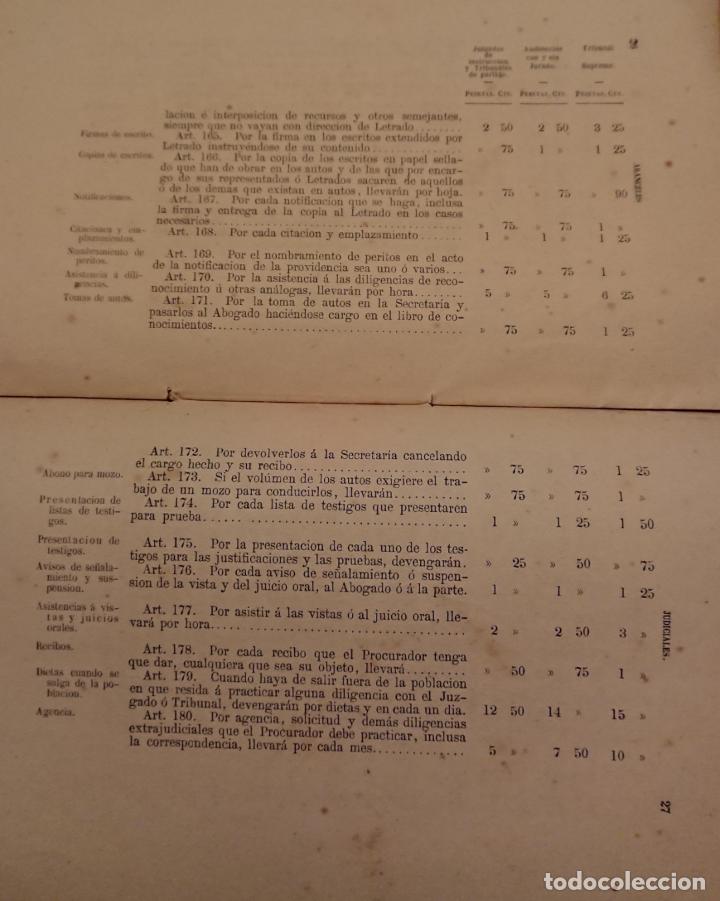 Libros antiguos: El enjuiciamiento criminal 1873 aranceles judiciales, Madrid - Foto 3 - 144517250