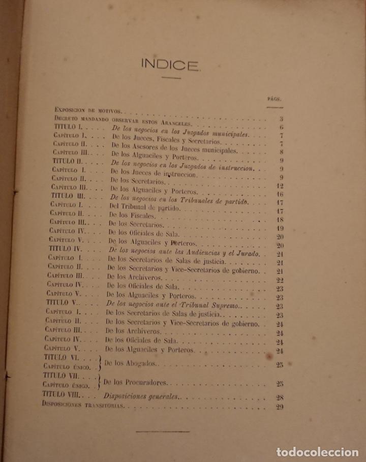 Libros antiguos: El enjuiciamiento criminal 1873 aranceles judiciales, Madrid - Foto 4 - 144517250