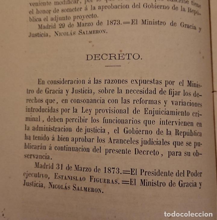 Libros antiguos: El enjuiciamiento criminal 1873 aranceles judiciales, Madrid - Foto 6 - 144517250