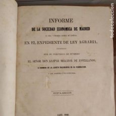 Libros antiguos: INFORME SOCIEDAD ECONÓMICA DE MADRID LEY AGRARIA MELCHOR JOVELLANOS 1866 + REVISTAS REFORMA AGRARIA. Lote 144583734