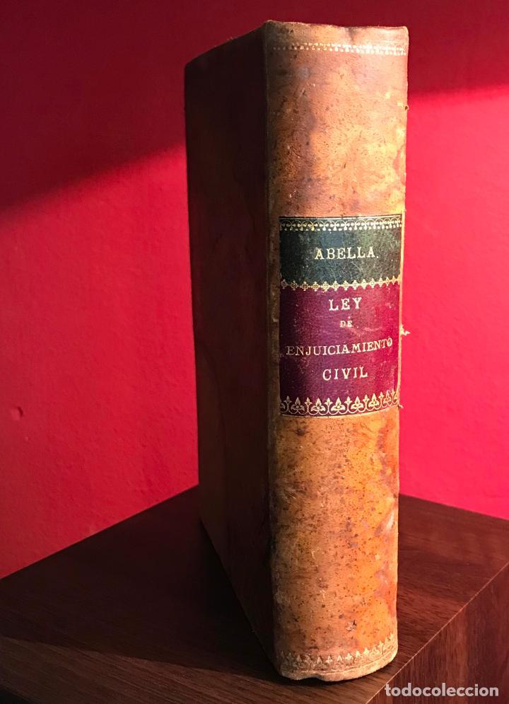 LEY DE ENJUICIAMIENTO CIVIL 3 FEBRERO 1881 (Libros Antiguos, Raros y Curiosos - Ciencias, Manuales y Oficios - Derecho, Economía y Comercio)