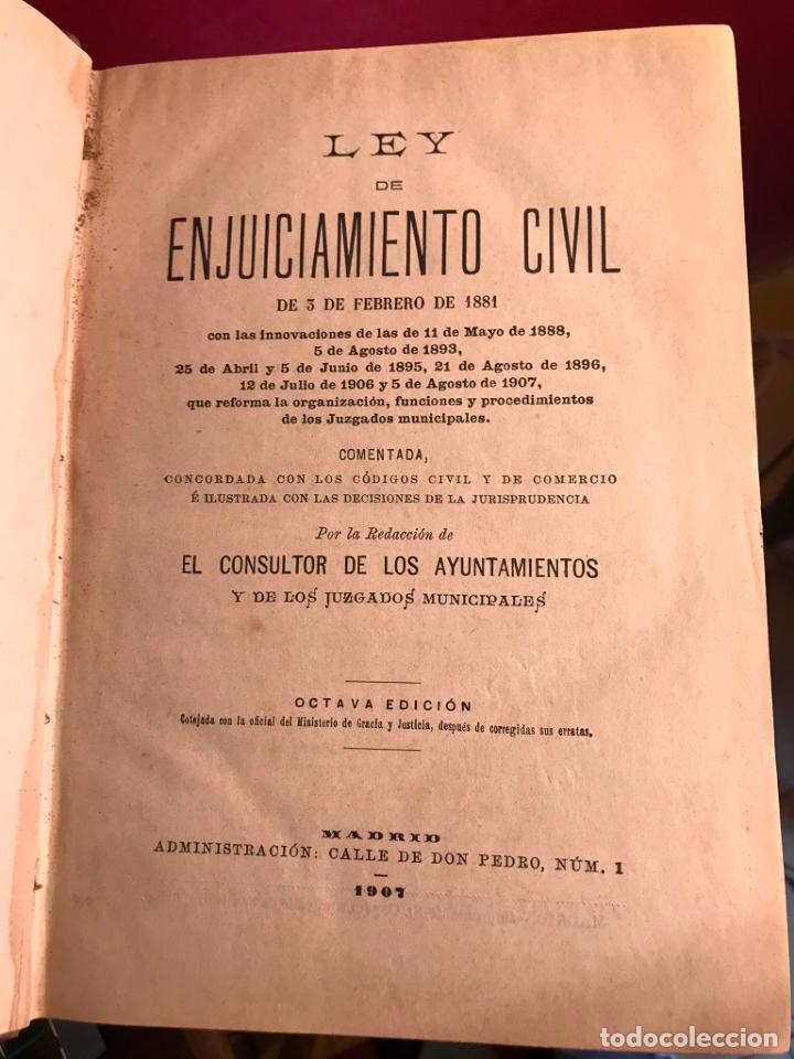 Libros antiguos: LEY DE ENJUICIAMIENTO CIVIL 3 FEBRERO 1881 - Foto 3 - 145059758