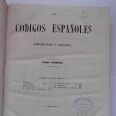 Libros antiguos: CODIGOS ESPAÑOLES CONCORDADOS Y ANOTADOS. TOMO PRIMERO. 1847. 483 PAGINAS. 30 X 23 CM. CCTT. Lote 145307770