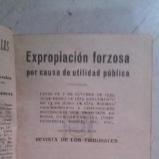 Libros antiguos: EXPROPIACIÓN FORZOSA. Lote 145425494