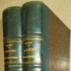 Libros antiguos: AÑO 1887. TRATADO Y NOTAS DE DERECHO INTERNACIONAL PÚBLICO. MARQUÉS DE OLIVART. 2 VOLS. COMPLETO.. Lote 145642154