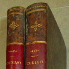 Libros antiguos: CÓDIGO PENAL REFORMADO DE 1870. SALVADOR VIADA. 2 VOLS. COMPLETO. AÑO 1877. Lote 145645130