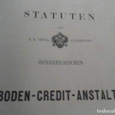 Libros antiguos: STATUTEN DER K. K PRIVIL ALLGEMEINEN 1864. Lote 145677226