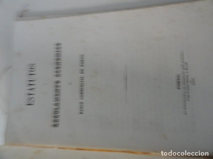 Libros antiguos: Estatutos e Regulamento Economico do Banco Commercial do Porto 1859 - Foto 2 - 145678426