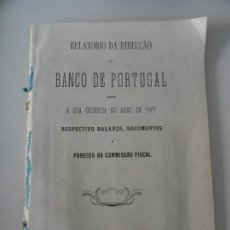 Libros antiguos: RELATORIO DA DIRECCAO DO BANCO DE PORTUGAL 1867. Lote 145679562