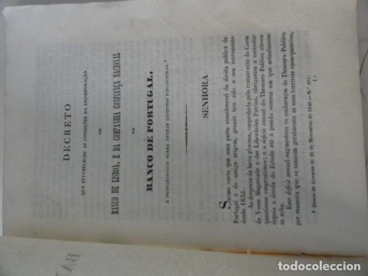 Libros antiguos: Organisaçao do Banco de Portugal 1847 - Primer Estatuto del Banco de Portugal - Foto 2 - 145681046