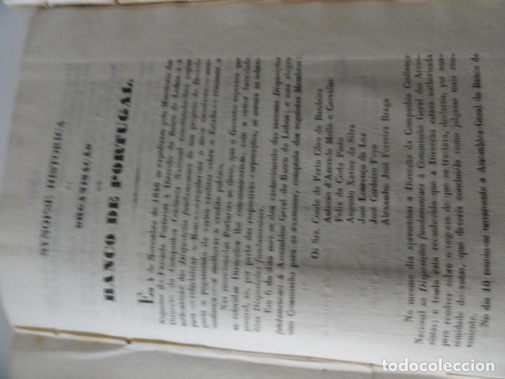 Libros antiguos: Organisaçao do Banco de Portugal 1847 - Primer Estatuto del Banco de Portugal - Foto 5 - 145681046