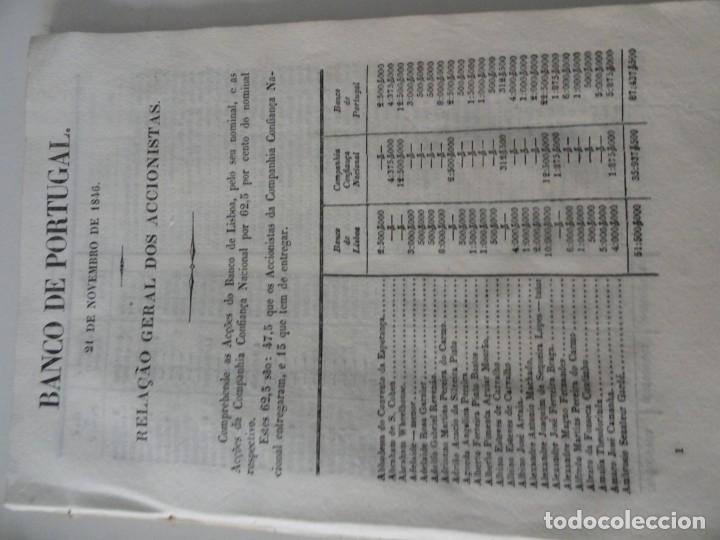 Libros antiguos: Organisaçao do Banco de Portugal 1847 - Primer Estatuto del Banco de Portugal - Foto 6 - 145681046